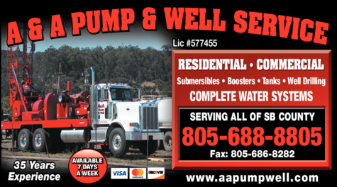 Yellow Pages Ad of A & A Pump & Well Service