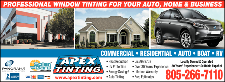 Yellow Pages Ad of Apex Tinting