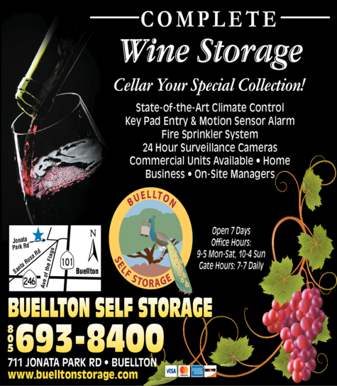 Yellow Pages Ad of Buellton Self Storage