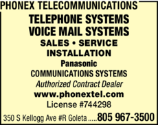 Yellow Pages Ad of Phonex Telecommunications