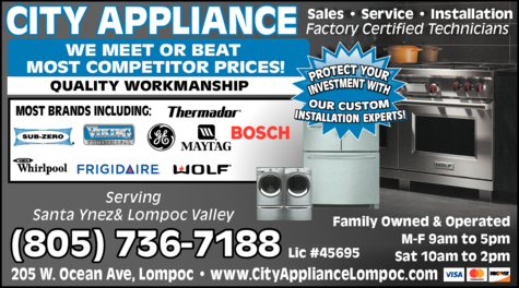 Yellow Pages Ad of City Appliance