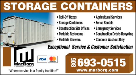 Yellow Pages Ad of Marborg Industries