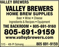Yellow Pages Ad of Valley Brewers