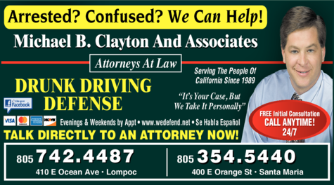 Yellow Pages Ad of Clayton Michael B & Associates Attorneys At Law