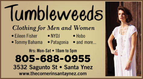Yellow Pages Ad of Tumbleweeds Clothing
