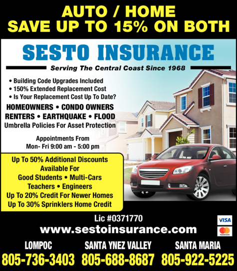 Yellow Pages Ad of Sesto Insurance