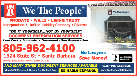 Yellow Pages Ad of We The People