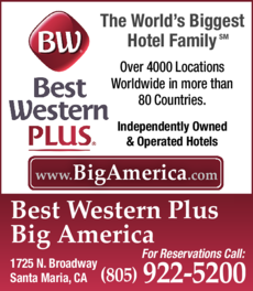 Yellow Pages Ad of Best Western Plus Big America