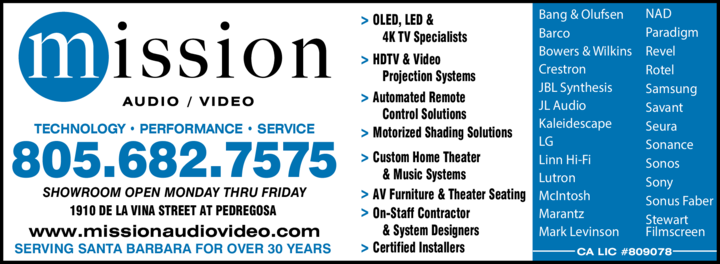 Yellow Pages Ad of Mission Audio Video