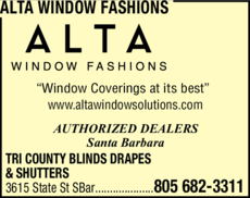 Yellow Pages Ad of Alta Window Fashions