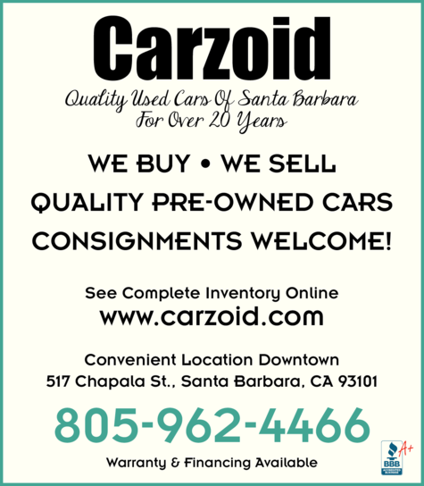Yellow Pages Ad of Carzoid