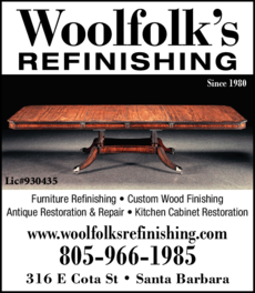 Yellow Pages Ad of Woolfolk's Refinishing