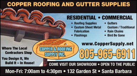 Yellow Pages Ad of Copper & Roofing Supply Inc