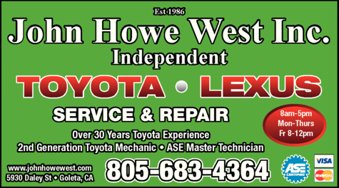 Yellow Pages Ad of John Howe West Inc