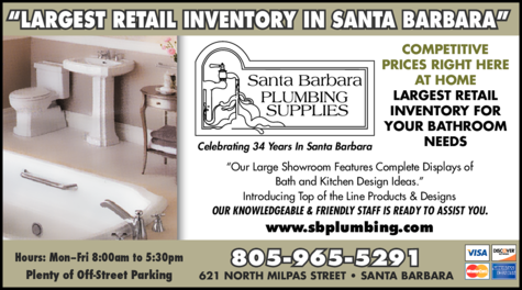 Yellow Pages Ad of Santa Barbara Plumbing Supplies