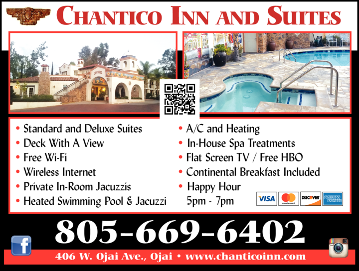 Yellow Pages Ad of Chantico Inn & Suites