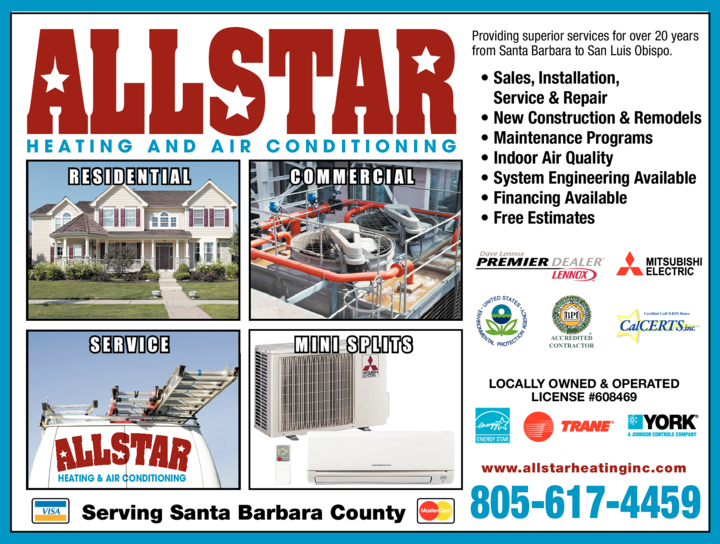 Yellow Pages Ad of Allstar Heating & Air Conditioning