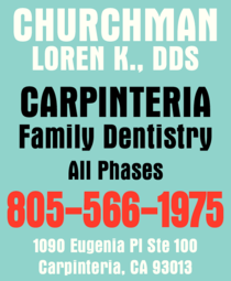 Yellow Pages Ad of Churchman Loren K Dds