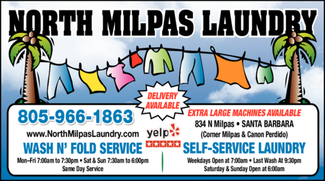 Yellow Pages Ad of North Milpas Laundry