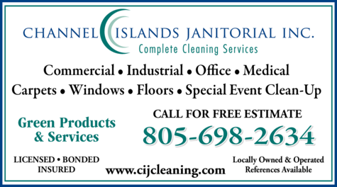 Yellow Pages Ad of Channel Islands Janitorial Inc