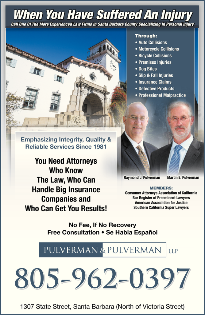 Yellow Pages Ad of Pulverman & Pulverman Llp