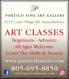 Yellow Pages Ad of Portico Fine Art Gallery