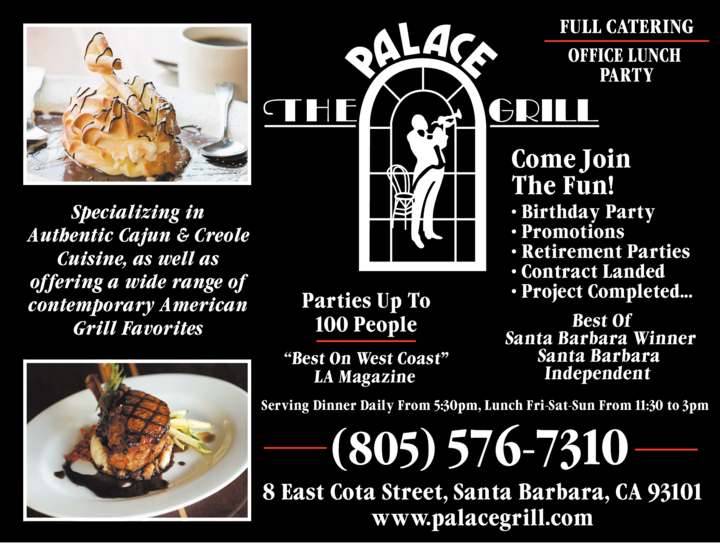Yellow Pages Ad of The Palace Grill