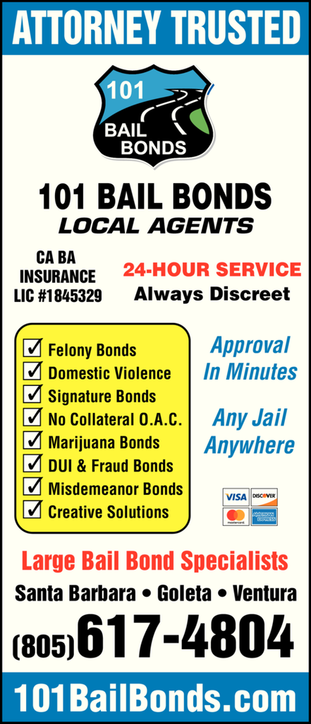 Yellow Pages Ad of Attorney Trusted - 101 Bail Bonds