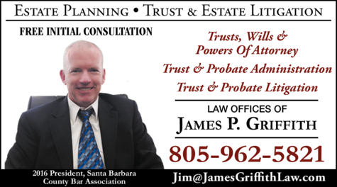 Yellow Pages Ad of Griffith James P Law Offices Of