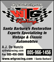 Yellow Pages Ad of Wtg Racing