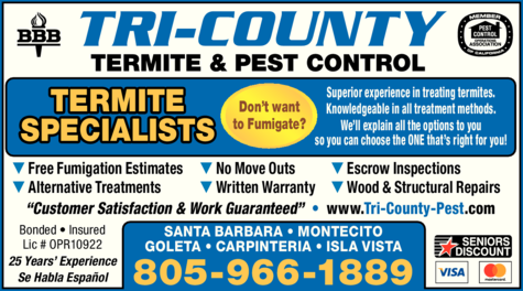 Yellow Pages Ad of Tri-County Pest Control
