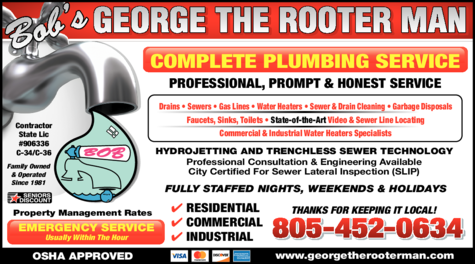 Yellow Pages Ad of Bob's George The Rooter Man