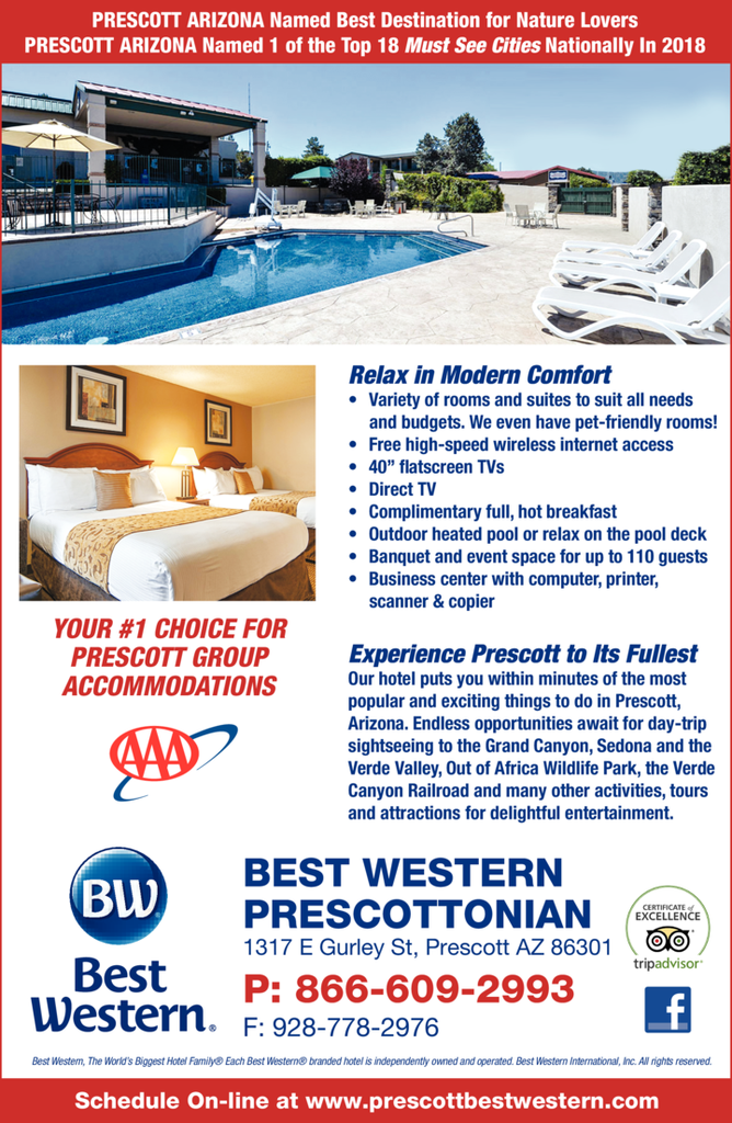 Yellow Pages Ad of Best Western Prescottonian
