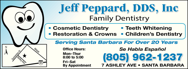 Yellow Pages Ad of Peppard Jeff Dds