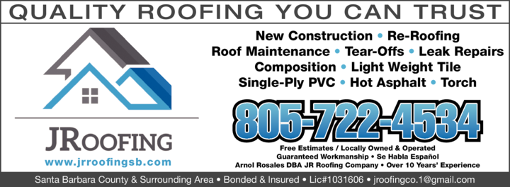 Yellow Pages Ad of Jr Roofing Company