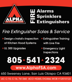 Yellow Pages Ad of Alpha Fire & Security Alarm