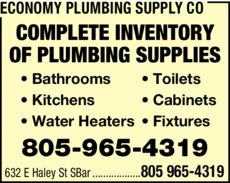 Print Ad of Economy Plumbing Supply Co