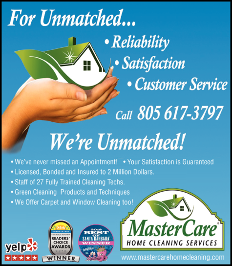Yellow Pages Ad of Mastercare Home Cleaning Services