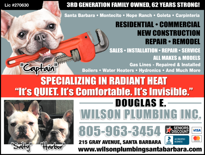 Yellow Pages Ad of Wilson Plumbing