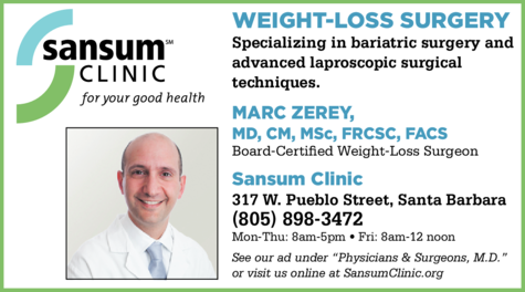 Yellow Pages Ad of Sansum Clinic Bariatric Surgery Center