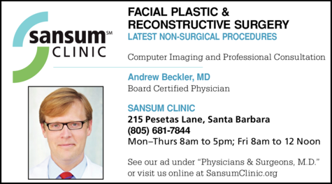 Yellow Pages Ad of Sansum Clinic - Facial Plastic & Reconstructive Surgery Center