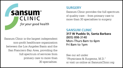 Yellow Pages Ad of Sansum Clinic - Surgery
