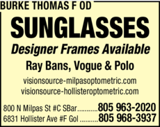 Yellow Pages Ad of Burke Thomas F Od