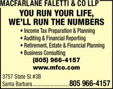 Print Ad of Macfarlane Faletti & Co Llp