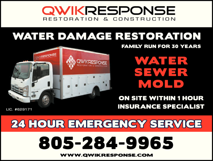 Yellow Pages Ad of Qwikresponse Restoration & Construction