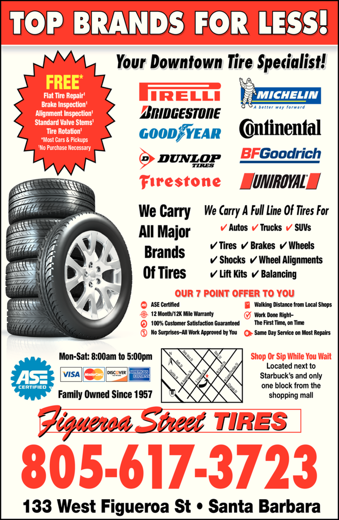 Yellow Pages Ad of Figueroa Street Tires