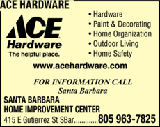 Yellow Pages Ad of Ace Hardware