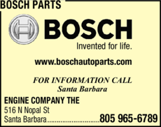 Yellow Pages Ad of Bosch Parts
