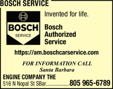 Yellow Pages Ad of Bosch Service