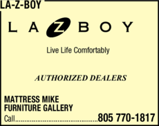 Yellow Pages Ad of La-Z-Boy